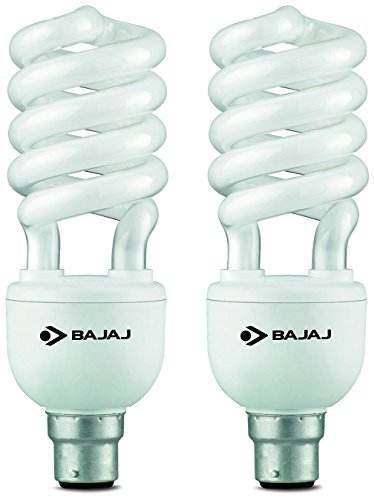 Bajaj Retrofit Ecolux Spiral 25 Watt CFL Bulb (Cool Day Light,Pack of 2 ) Image