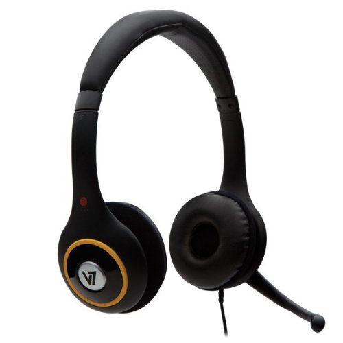 V7 Hu511-2Np Deluxe Usb Headset With Noise-Canceling Mic And Volume Control