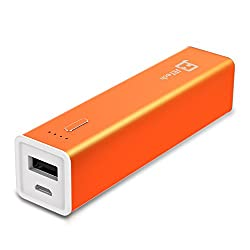 Portable Battery, JETech® 3,200mAh Portable External Power Bank Battery Charger Pack for iPhone 6/5/4, iPad, iPod, Samsung Devices, Smart Phones, Tablet PCs (1-Cell 3200mAh Orange)