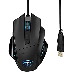 VicTsing Wired 6400 DPI Programmable Laser Gaming Mouse for PC, Computer, Laptop, Macbook