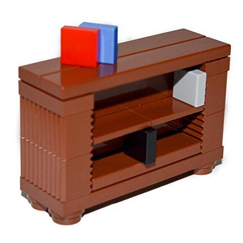 LEGO Furniture: Brown Book Shelf Case - Professional Custom Design [Minifigure Accessories]