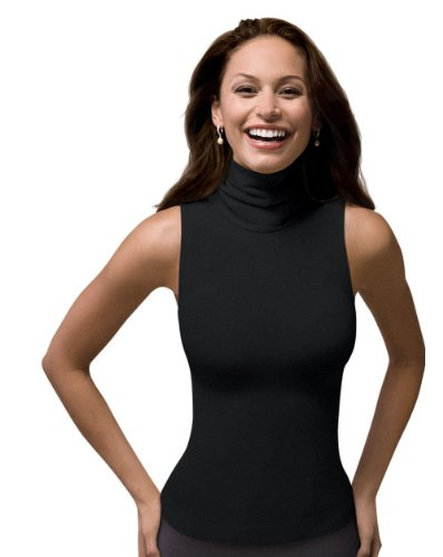 edbd140fd05ba SPANX On Top and In Control Chic Sleeveless Turtleneck (974) Black Size  Large