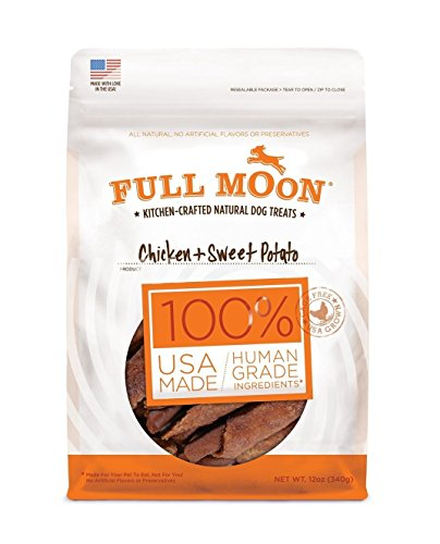 Full Moon All Natural Human Grade Dog Treats, Chicken & Sweet Potato, 12 Ounce (Full Moon Chicken Jerky For Dogs compare prices)