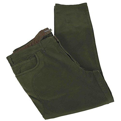 Calzone pantalone taglie forti uomo Maxfort REIMS alcantara stretch - Verde, 58 GIROVITA 116 CM