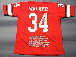 Signed Herschel Walker Jersey - Stat Gtsm Heisman Insc Uga - Autographed College... by Sports Memorabilia
