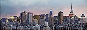 (50x144) Hank Gans Manhattan Skyline New York City Huge Wall Mural Panoramic Door Art Print