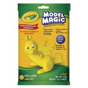 6 Pack MODEL MAGIC 4oz PACK YELLOW Drafting, Engineering, Art (General Catalog)