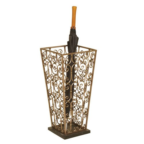 Passport Umbrella Stand with Black Marble Base