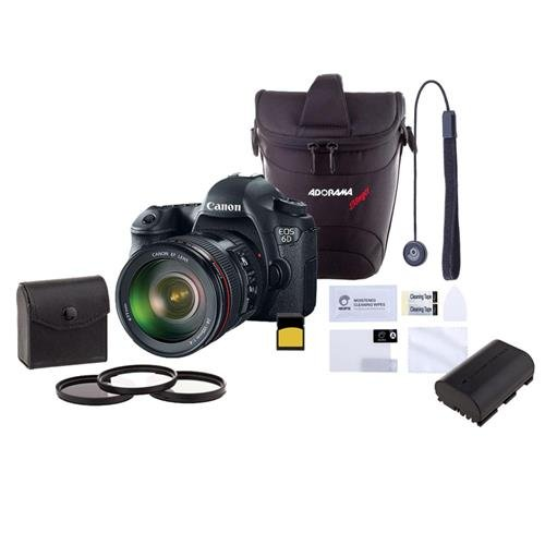 Canon EOS-6D DSLR Camera Kit with EF 24-105mm f/4L IS USM Lens