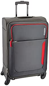American Tourister Polyester 55 Cms Grey Soft Sided Carry