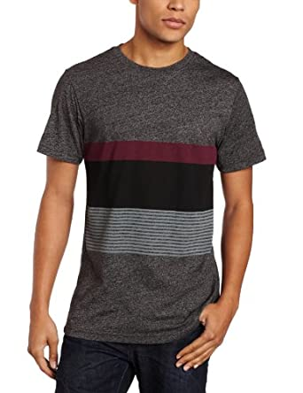 Volcom Men's No Filler Short Sleeve Tee not Optical Ill, Heather Black, Large