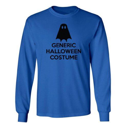 Festive Threads Big Boys' Generic Halloween Costume (Ghost) Long Sleeve T-Shirt