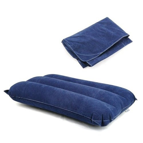 Buy SODIAL(TM) Blue Inflatable Pillow Cushione Camping Beach Travel Outdoor