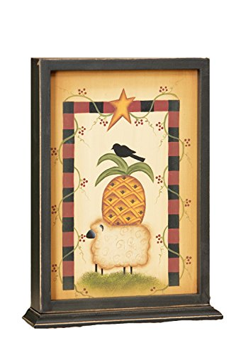 Your Hearts Delight Crow/Pineapple/Sheep Wood Stand Decor, 8 by 10-1/2 by 2-1/4-Inch