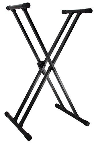 Lowest Price! Gearlux Adjustable Double-Braced Keyboard Stand – Black