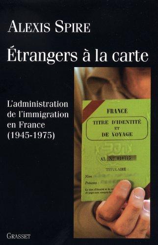 Etrangers à la carte (essai français)