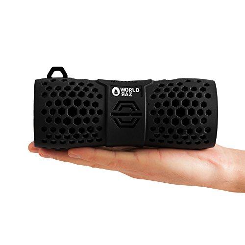 Bluetooth-Lautsprecher-wasserdicht-mobiler-Bluetooth-Speaker-shockproof-mit-eingebautem-Freisprech-Mikrofon-Ultra-klarem-Sound-RAZ-X6-tragbarer-Lautsprecher-fr-Handys-Smartphones-PC-etc-SCHWARZ