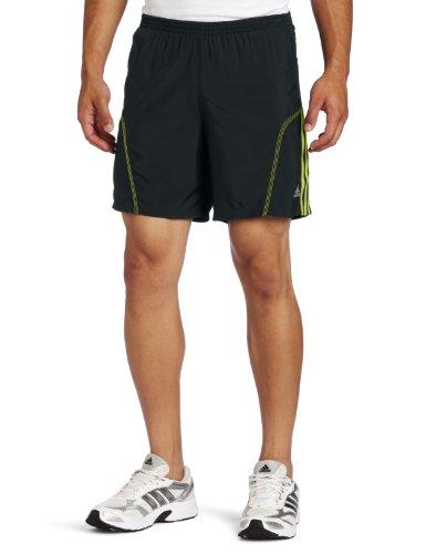 adidas adidas Men's Response Drei Streifen 7-Inch Baggy Short, Tech Onix/Lab Lime, X-Large