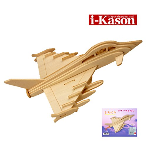 Authentic High Quality i-Kason® New Favorable Imaginative DIY 3D Simulation Model Wooden Puzzle Kit for Children and Adults Artistic Wooden Toys for Children - Typhoon Fighter - 1