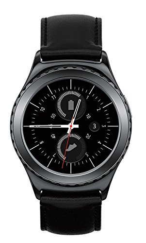 Samsung Gear S2 SM-R735T Stainless Steel Leather Black Smartwatch for T-Mobile (Certified Refurbished) (Samsung Galaxy S2 Used compare prices)