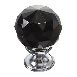 Black 10X 30mm Clear Crystal Glass Door Knobs Diamond Drawer Cabinet Kitchen from The end Co,.Ltd