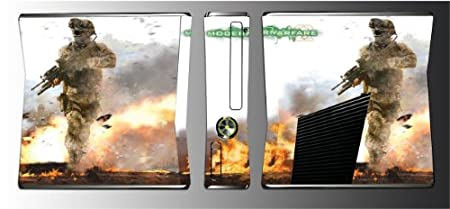 Call of Duty Modern Warfare 2 3 4 Black Ops Game Vinyl Decal Cover Skin Protector Cover Mod #7 for Xbox 360 Slim