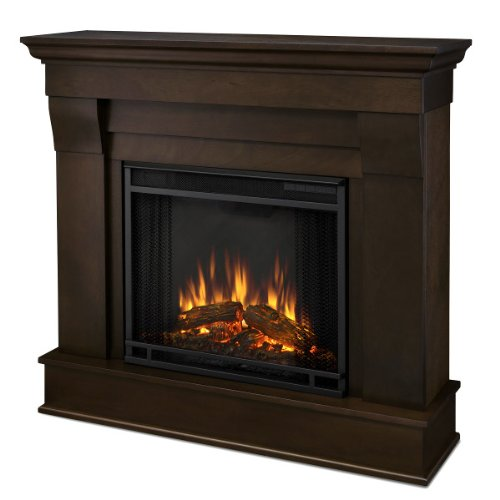The Libertarian Indoor Ventless Electric Wall Fireplace - Dark Walnut picture B009LRKEE0.jpg