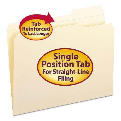 Smead - File Folder, 1/3 Cut Third Position, Reinforced Top Tab, Letter, Manila, 100/Box 10337 (Dmi Bx
