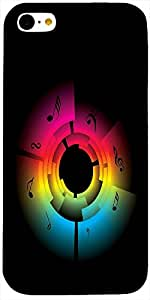 Aakrti Multicolor printed protective back cover Design : Sky spiral art Compatible for : iPhone - 5-C