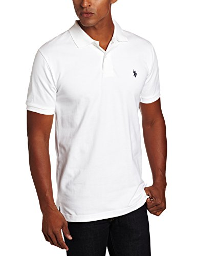 U.S. Polo Assn. Men's Solid Polo With Small Pony, White, Medium (Us Polo Assn compare prices)