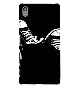 PrintVisa Cool Shoes Design 3D Hard Polycarbonate Designer Back Case Cover for Sony Z5 Plus :: Z5 Premium