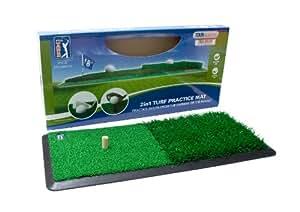 PGA Tour academy Pitch d'entrainement 2en1 gazon de golf pratique Vert