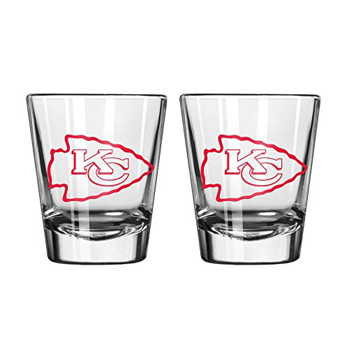 NFL Kansas City Chiefs Game Day Shot Glass, 2-ounce, 2-Pack