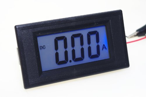 Smakn® Dc 0-2A 7 Segments Blue Lcd Display Current Tester Panel Ammeter