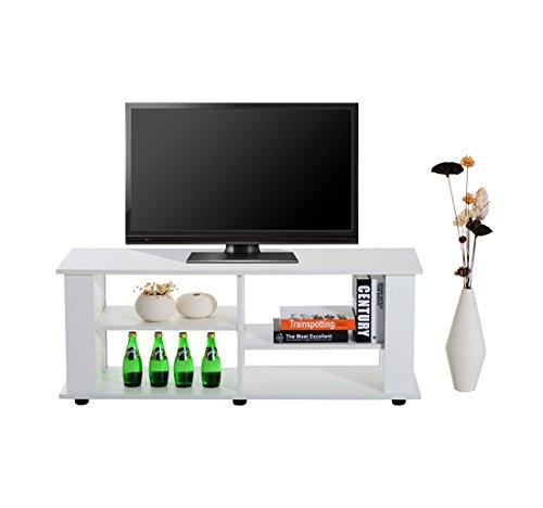 Homcom - Mobile Porta-tv Scaffale in Pannelli di Particelle 122 x 38.1 x 46.7cm Bianco