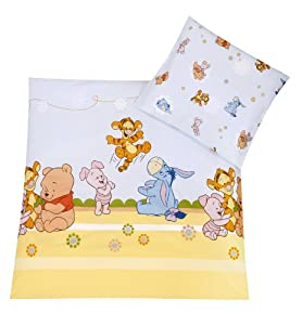 Julius Zöllner 8510010003 - Baby Pooh and Friends Bettwäsche, 80x80 cm