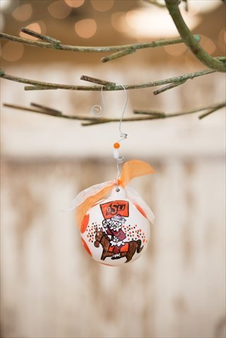 Glory Haus 42000218 Oklahoma State Ball Ornament Pack of 2