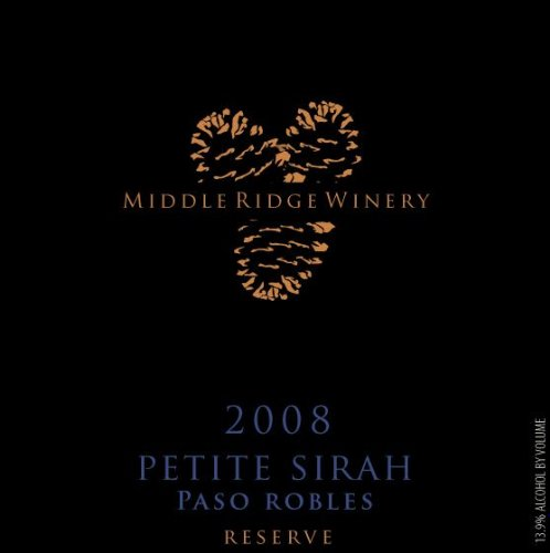 2008 Middle Ridge Winery Reserve Petite Sirah Paso Robles 750 Ml