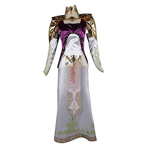 ETASSO The Legend of Zelda Prinzessin Zelda Cosplay Kostüme Cosplay Kleid Halloween Kostüm