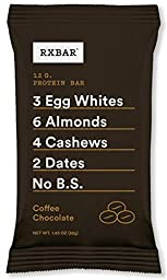 RXBAR Whole Food Protein Bar, Coffee Chocolate, 1.83 Ounce (Pack of 12)