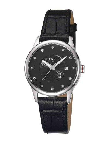 Kienzle K3042013051-00036 - Reloj analógico de cuarzo para mujer con correa de piel, color negro