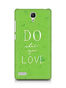AMEZ do what you love Back Cover For Xiaomi Redmi Note