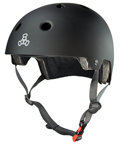 Triple Eight Certified Helmet, All Black Rubber, Large/X-Large (Critical Cycles Helmet compare prices)