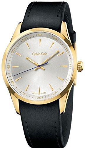 Calvin Klein K5A315C6 - Reloj para hombres, correa de cuero color negro