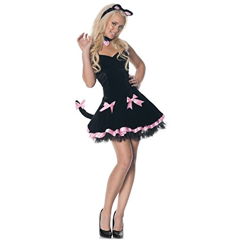 [GSG Sexy Cat Costume Adult Womens Halloween Fancy Dress] (Womens Masquerade Costume Countess)