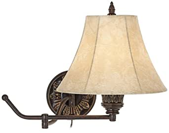 Wall Lamps B And Q : Rosslyn Set of 2 Bronze Plug-In Swing Arm Wall Lamps - Wall Sconces - Amazon.com