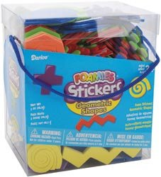 Darice Foam Stickers 5 Ounces/Pkg Geometric Shapes 1045-42; 3 Items/Order