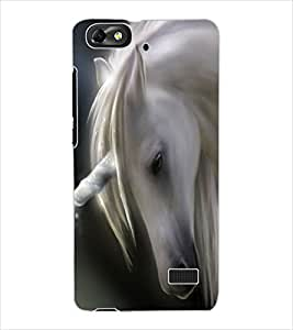 ColourCraft Lovely Horse Design Back Case Cover for HUAWEI G PLAY MINI