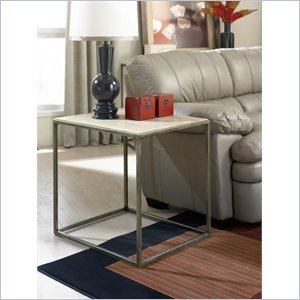 Cheap Hammary Modern Basics End Table in Textured Bronze (190-915)