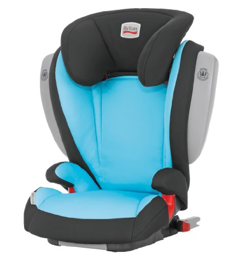 Britax Kidfix ISOFIT with Side Impact Cushion Technology Group 2-3 Booster Seat (Leon/Blue)